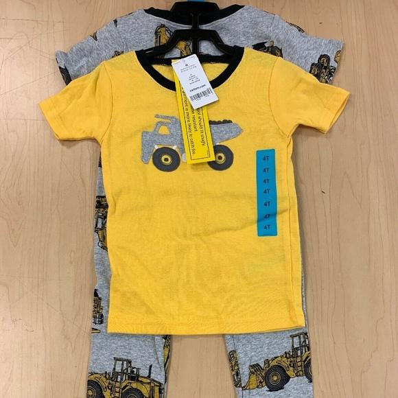 Dump Truck Pajamas NWT construction vehicles Carter/'s Infant Boys/' 3-Piece PJs